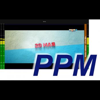 MultiScreen инструментальный контроль и визуализация звука PPM (1 канал)