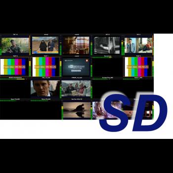 MultiScreen инструментальный контроль и визуализация ТВ каналов SD разрешения (1 канал)