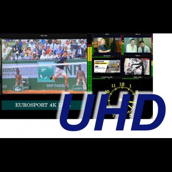 MultiScreen инструментальный контроль и визуализация ТВ каналов в HEVC в том числе UHD/4K разрешения (1 канал)