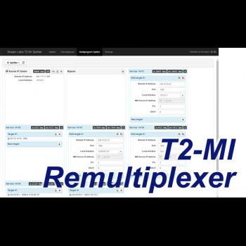 Программное обеспечение DVB T2-MI Remultiplexer (5 выходных потоков)