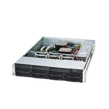 Сервер Supermicro SC825TQ-R740LPB(X9DR3-LN4F+), 2 процессора Intel Xeon 8C E5-2670 2.60GHz, 64GB DRAM