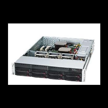 Сервер Supermicro SC825TQ-R740LPB(X9DR3-LN4F+), 2 процессора Intel Xeon 8C E5-2670 2.60GHz, 64GB DRAM