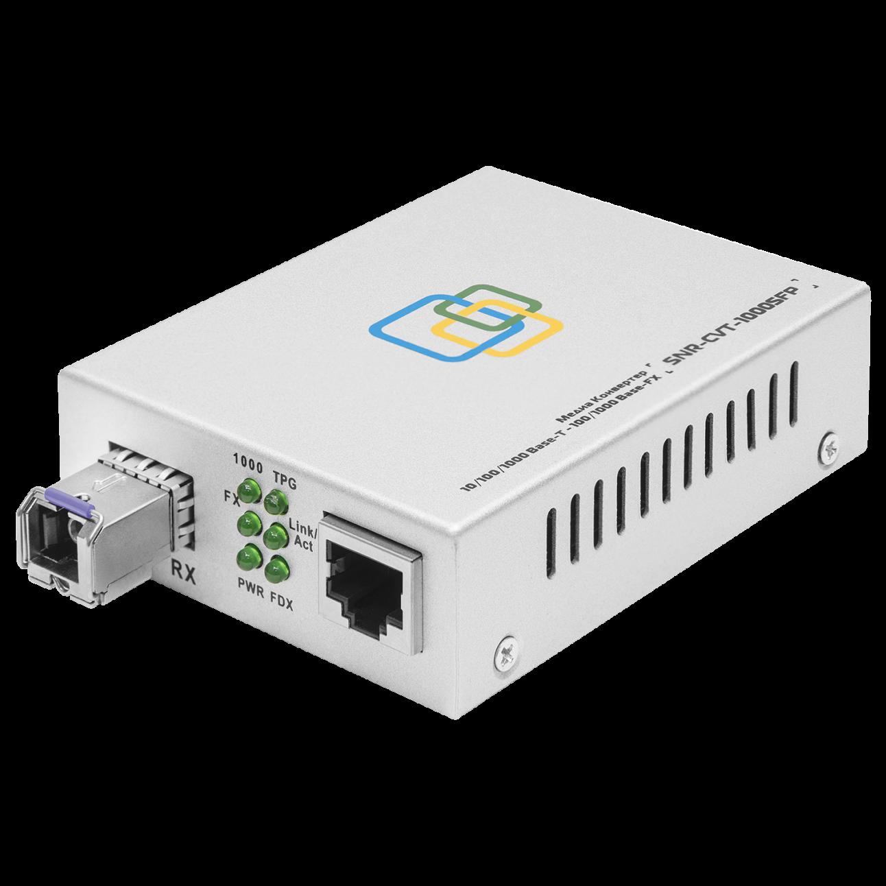 Медиаконвертер SNR-1000B-WDM-03