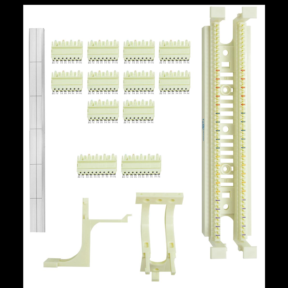 Кросс-панель тип 110 до 50 пар, настенный монтаж, с ногами