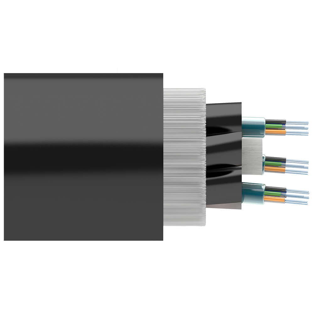 Кабель оптический самонесущий диэлектрический, 8 волокон, 6.0кН, 11.0мм, катушка 4км.