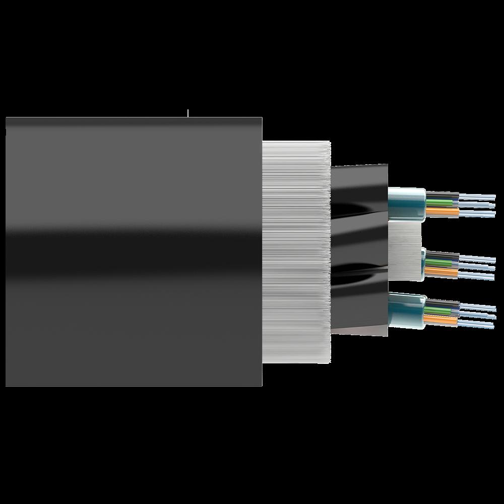 Кабель оптический самонесущий диэлектрический, 16 волокон, 6.0кН, 11.0мм, катушка 4км.