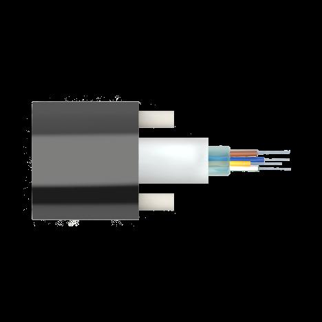 Кабель оптический самонесущий диэлектрический, 1 волокно, 1.0кН, 5.0мм, катушка 1км.