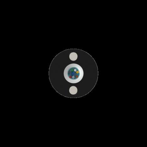 Кабель оптический самонесущий диэлектрический, 2 волокна, 1.0кН, 5.0мм, катушка 4км.