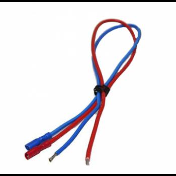 Кабельный набор для подключения аккумуляторов, красный, синий, 0.5м, с наконечниками