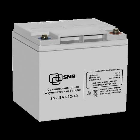 Свинцово-кислотный аккумулятор 12В 40Ач (SNR-BAT-12-40-GP)