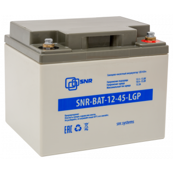 Свинцово-кислотный аккумулятор 12В 45Ач (SNR-BAT-12-45-LGP)