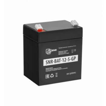 Свинцово-кислотный аккумулятор 12 В 5 Ач (SNR-BAT-12-5-GP)