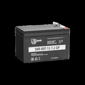 Свинцово-кислотный аккумулятор 12 В 7.2 Ач (SNR-BAT-12-7.2-GP) ухенка имеют потертости и метки маркером.
