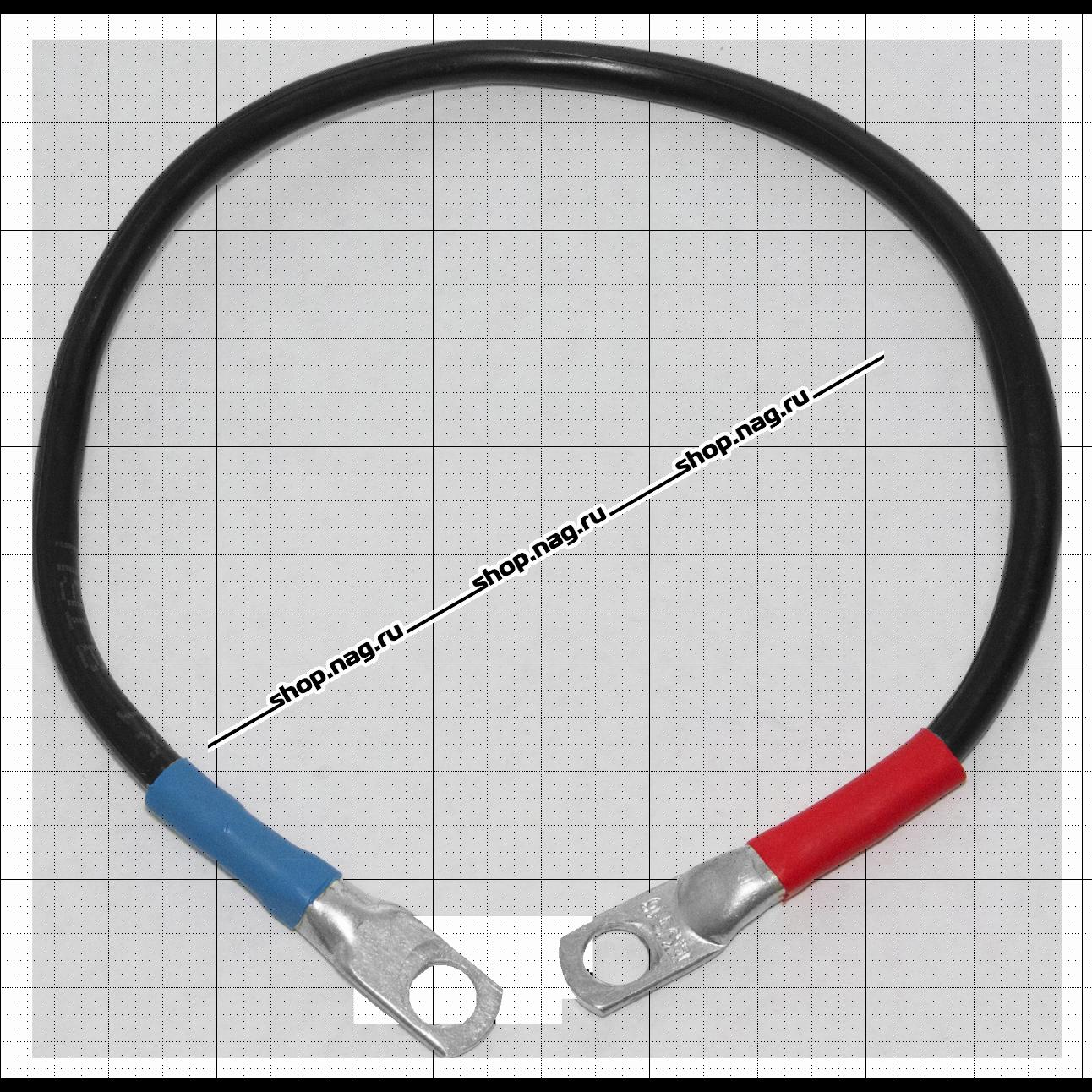 Перемычка для соединения свинцово-кислотных аккумуляторов 10 см 10 кв.мм под M8