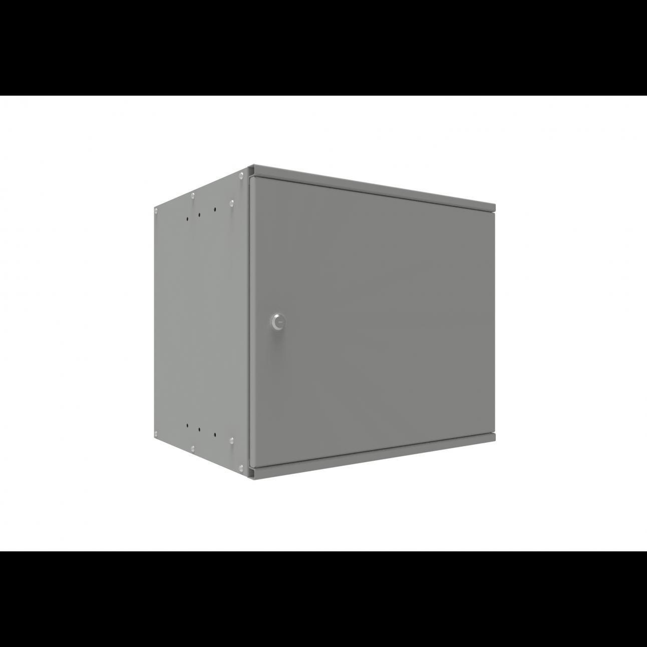 Шкаф телекоммуникационный настенный SNR-BNP4009-M, 9U, 448х520х400 мм (дверь металлическая)
