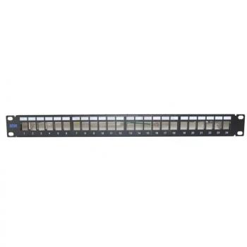 """Патч-панель неэкранированная SNR, Cat. 5E, 19"""", 1U, 24 порта (мятая упаковка)"""