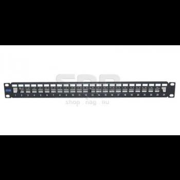 """Патч-панель неэкранированная SNR, 24 порта, 19"""", 1U, для модулей KeyStone, незагруженная"""