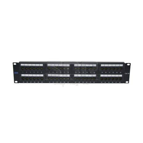 """Патч-панель неэкранированная SNR, Cat. 5E, 19"""", 2U, 48 портов"""