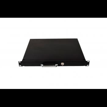 Выдвижной ящик для документов глубиной 355мм, высота 1U, цвет-черный (SNR-CASE-355-1U-B)