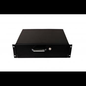 Выдвижной ящик для документов глубиной 355мм, высота 3U, цвет-черный (SNR-CASE-355-3U-B)