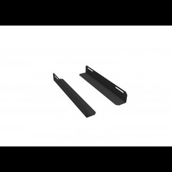 Комплект уголков опорных для шкафа глубиной 600мм (глубина уголка 350мм), распределённая нагрузка 20кг, цвет-чёрный (SNR-CORNER-06035-20B)