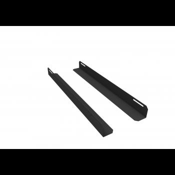 Комплект уголков опорных для шкафа глубиной 800мм (глубина уголка 550мм), распределённая нагрузка 20кг, цвет-чёрный (SNR-CORNER-08055-20B)