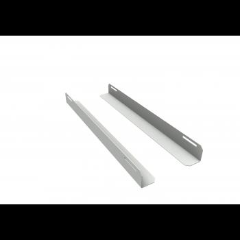 Комплект уголков опорных для шкафа глубиной 800мм (глубина уголка 550мм), распределённая нагрузка 20кг, цвет-серый (SNR-CORNER-08055-20G)