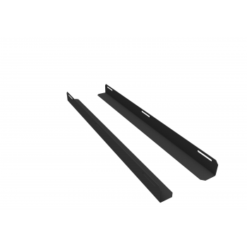 Комплект уголков опорных для шкафа глубиной 1000мм (глубина уголка 710мм), распределённая нагрузка 20кг, цвет-чёрный (SNR-CORNER-10071-20B)