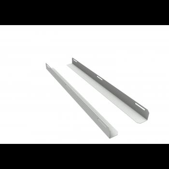 Комплект уголков опорных для шкафа глубиной 1000мм (глубина уголка 710мм), распределённая нагрузка 20кг, цвет-серый (SNR-CORNER-10071-20G)