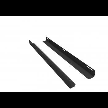 Комплект уголков опорных для шкафа глубиной 1200мм (глубина уголка 950мм), распределённая нагрузка 20кг, цвет-чёрный (SNR-CORNER-12095-20B)