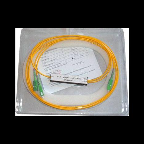 Делитель оптический корпусный single window 1х2 (1550nm) SC/APC in - SC/UPC out
