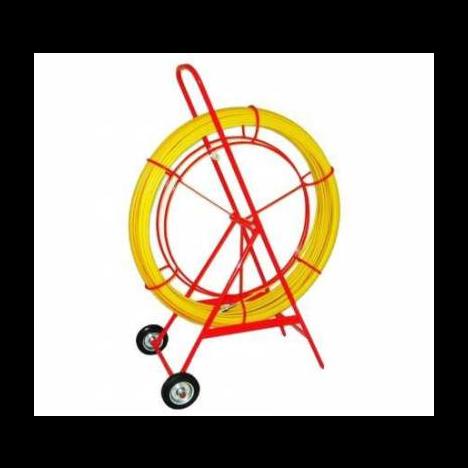 Устройство для затяжки (протяжки) кабеля на тележке, D=11mm, L=150m, цвет - желтый (Россия)
