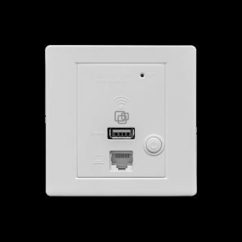 Точка доступа SNR-CPE-Wi2, wall-in, PoE 802.3af, 802.11b/g/n, 2xFE RJ45, 1xUSB
