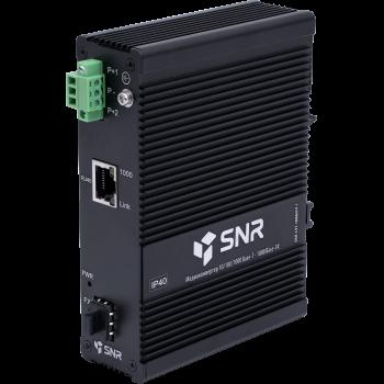 Медиаконвертер 10/100/1000-Base-T / 1000Base-FX с SFP-портом в индустриальном исполнении