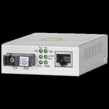 Медиаконвертер  10/100-Base-T / 100Base-FX, Tx/Rx: 1550/1310нм, V2