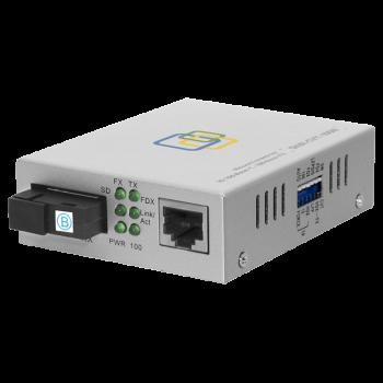 Медиаконвертер  10/100-Base-T / 100Base-FX, Tx/Rx: 1550/1310нм