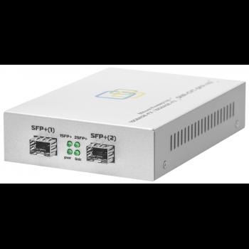 Медиаконвертер 10GbE SFP+ /  SFP+