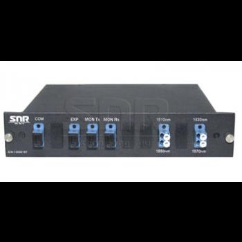 Мультиплексор CWDM одноволоконный 2-канальный, (trx:1550/1530, 1570/1510), Monitor, UPG