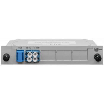 Мультиплексор CWDM одноволоконный 2-канальный, (trx:1550/1530, 1570/1510), в пластиковом слоте