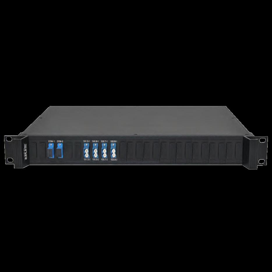 Мультиплексор CWDM 4-канальный двух волоконный в шасси -1U(trx:1491-1511, 1531-1571)
