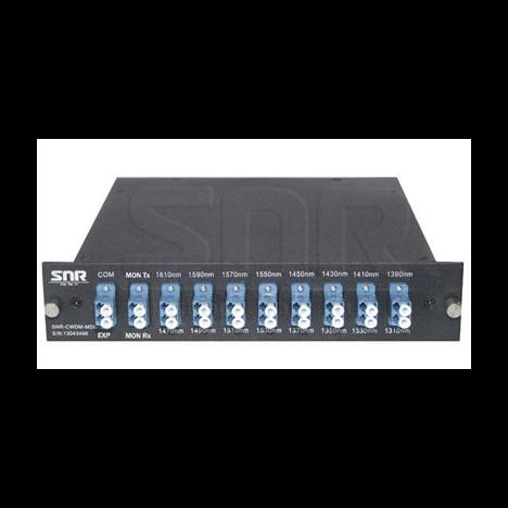 Мультиплексор CWDM одноволоконный 8-х канальный, (trx:1610-1390, 1470-1310), Monitor, UPG