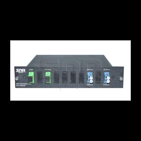 Мультиплексор-Демультиплексор одноволоконный 2-канальный + TV канал 1310нм
