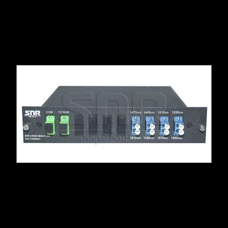 Мультиплексор-Демультиплексор одноволоконный 4-канальный + TV канал 1310нм
