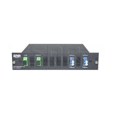 Мультиплексор-Демультиплексор одноволоконный 2-канальный + TV канал 1550нм
