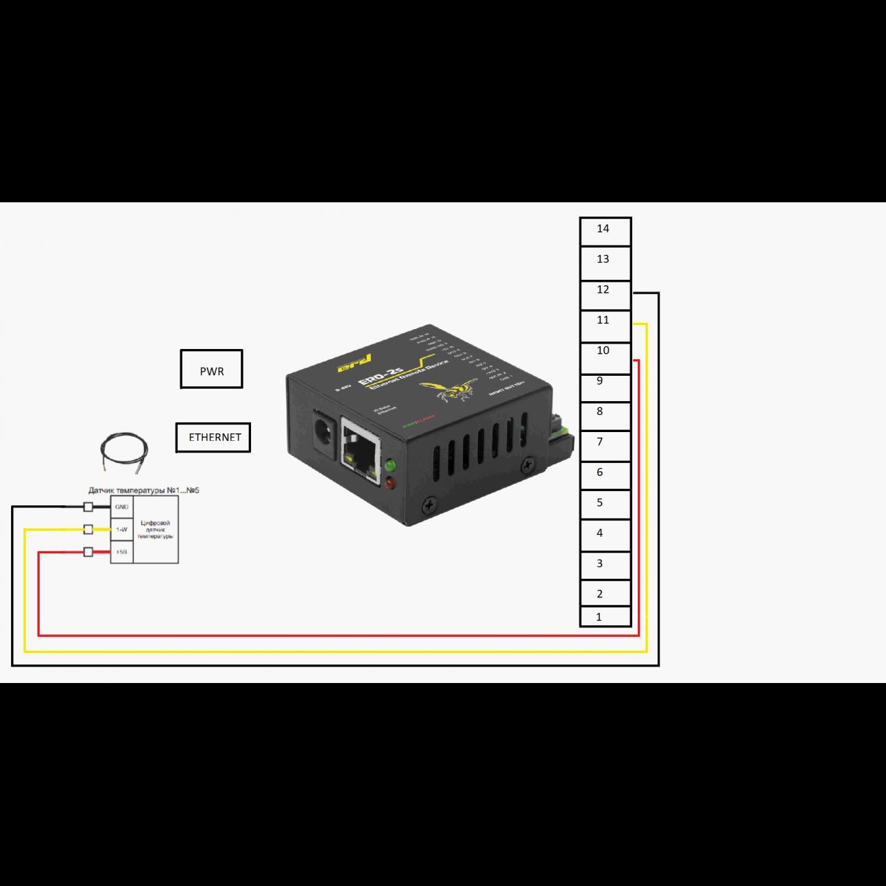 Датчик температуры цифровой SNR-DTS-2