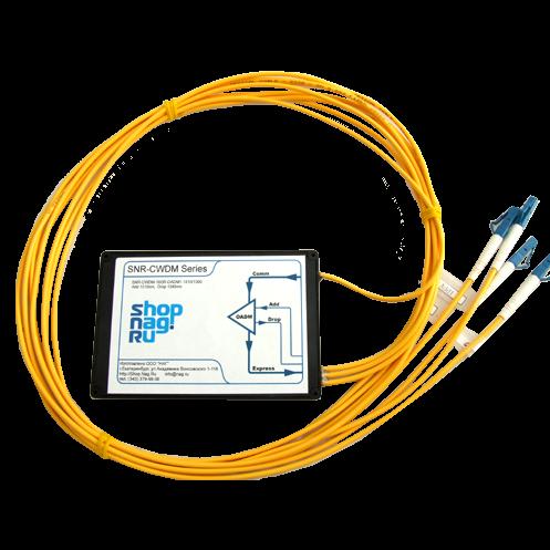 Модуль Add/Drop  SNR-DWDM-OADM1-1550.92/1531.90 для одноволоконных DWDM сетей