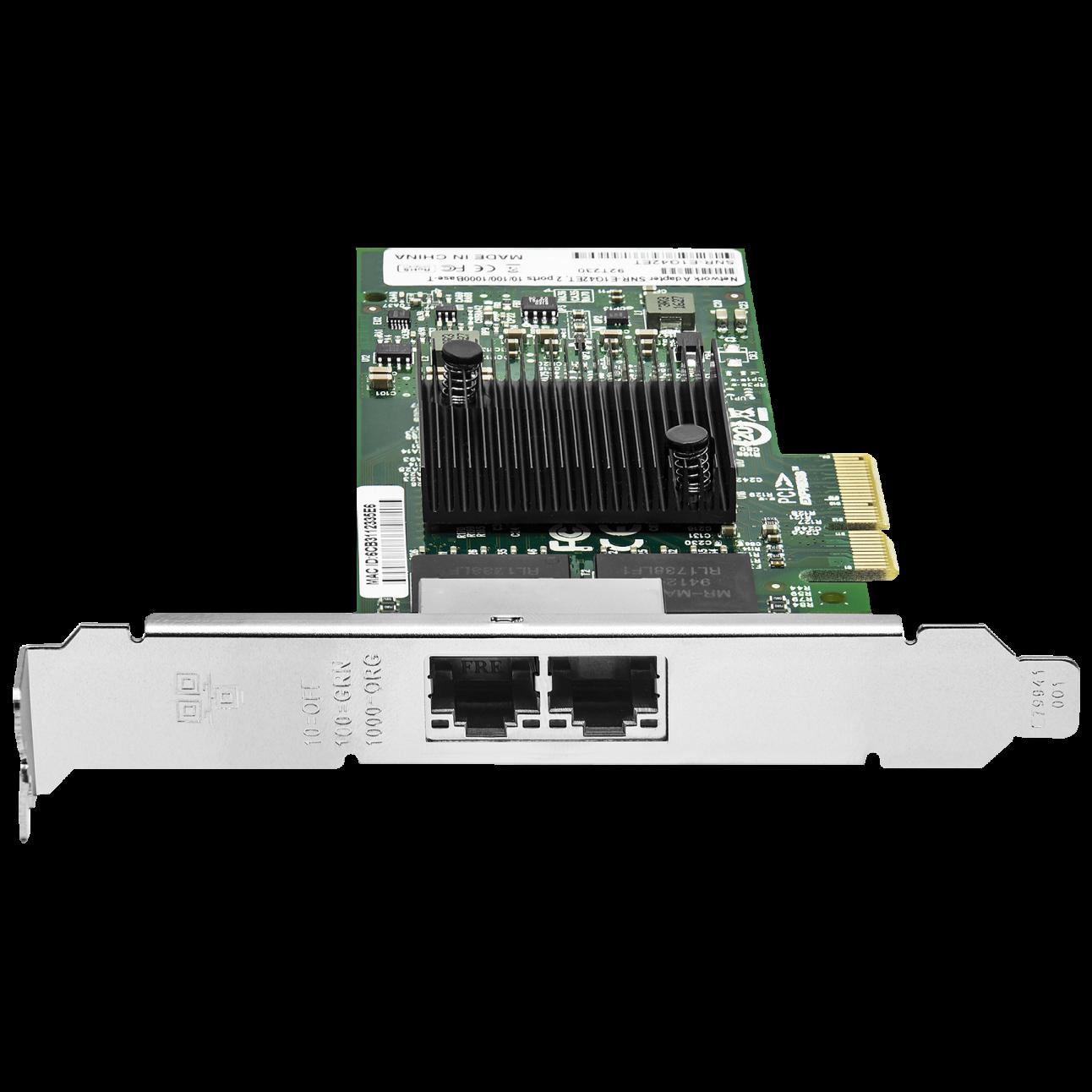Сетевая карта 2 порт 10/100/1000Base-T SNR-E1G42ET