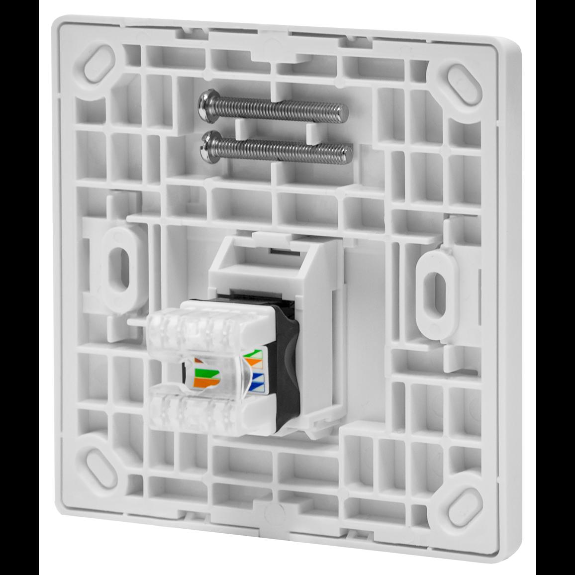 Абонентская розетка SNR, встраиваемая, под модули Keystone, 1 порт