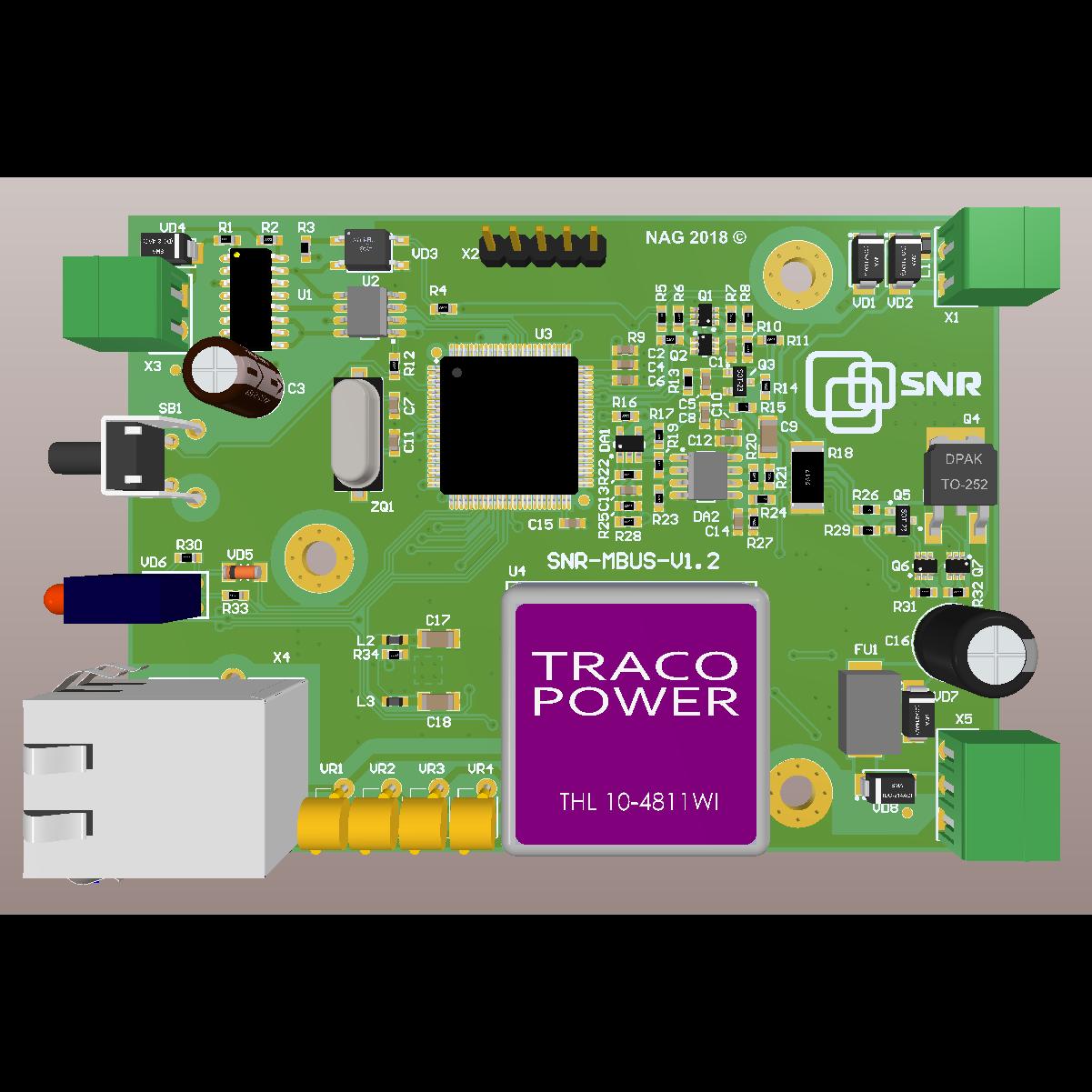 Конвертер интерфейсов Ethernet-MBus