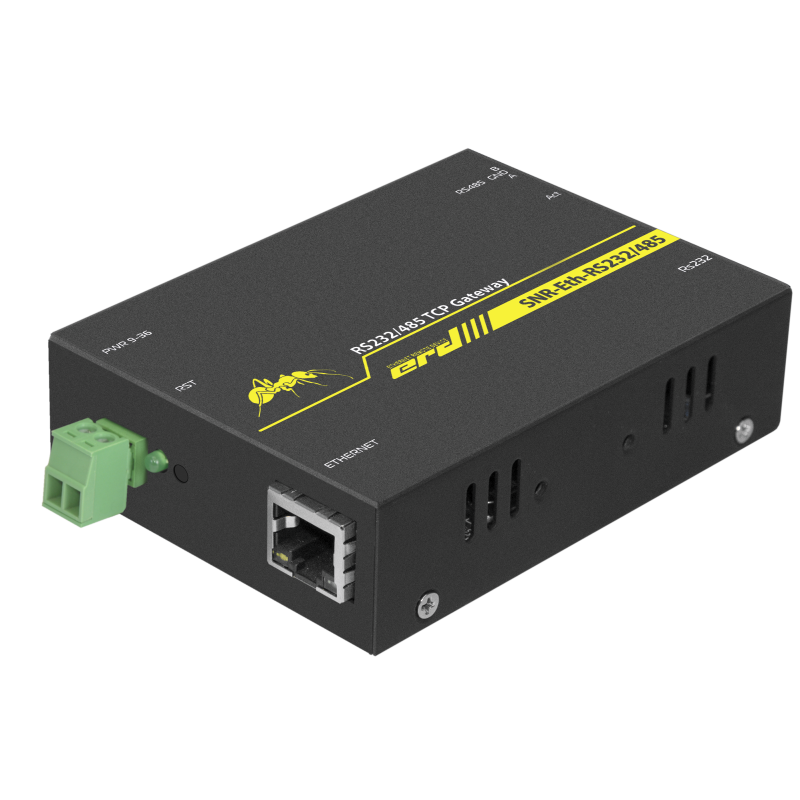 Конвертер интерфейсов ERD-Ethernet-RS485/RS232, с гальваноразвязкой